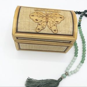 Wood and Woven Butterfly Jewelry Box